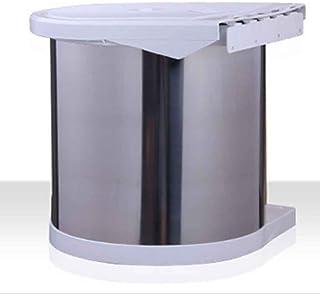 Poubelle à la maison poubelles caché en acier inoxydable, armoires avec poubelle intégrée de porte peut (8L) Poubelle comp...