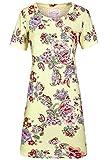 Ringella Bloomy Damen Nachthemd mit Blumenprint French Vanilla 46 0251007, French Vanilla, 46