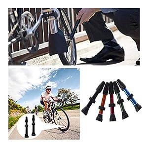 Xumier 23pcs Valvula Tubeless MTB 40mm Tapa de válvula Francesa Valvula Bicicleta Fina para Llanta de Carreteras Bicicletas de Montaña
