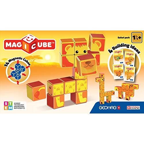Geomag- Safari Park Magicube Cubetti Magnetici, Multicolore, PF.331.135.00