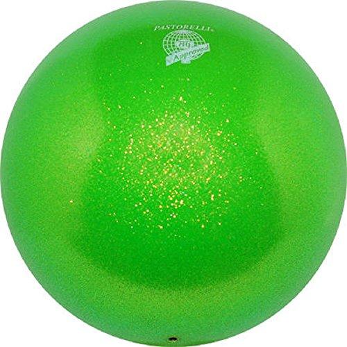 Pastorelli~GLITTER HV - Pelota de gimnasia rítmica (18 cm), Verde
