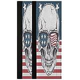 Oarencol Juego de 2 fundas para manija de puerta de refrigerador, diseño de calavera, diseño de bandera americana