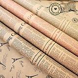 uchic 10pcs color al azar 52 x 75 cm papel de regalo Artware de embalaje paquete papel Navidad papel de estraza Vintage periódico regalo