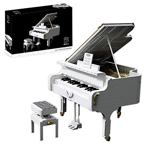 ReallyPow Klavier Konzertflügel Bauset für Erwachsene, App-Gesteuertes, Klavier mit Motor, funktionierenden Tasten und LED-Licht, Piano Kompatibel mit Lego 21323 Klavier - 2750 Teile
