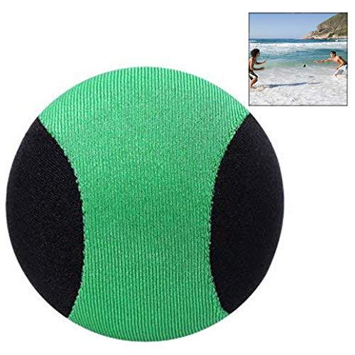 LHKJ Pelota de Playa Que Rebota en el Agua, Diversión Bola en la Piscina Saltos en el Agua para Familia y Amigos - 2.17 Inch (Negro + Verde)