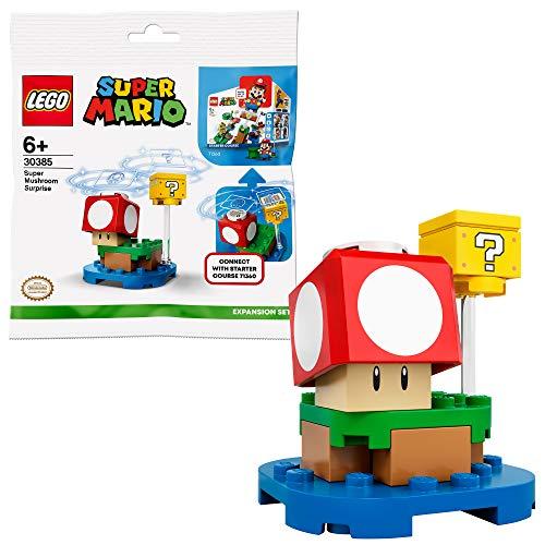 lego super mario bustine LEGO Super Mario Blocco Super Fungo Pack di Espansione per Espandere Il Tuo Set di Gioco 71360