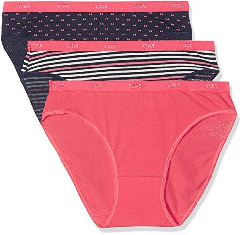 Dim Les Pockets Coton Slip X3 Braguita, Multicolor (Estampado 5MM), 40 (Tamaño del Fabricante: 40/42) (Pack de 3) para Mujer