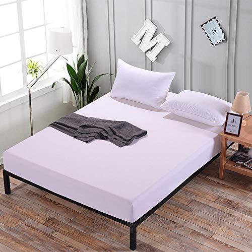 DSman Protector de colchón - cubrecolchón Transpirable Cubierta Protectora contra el Polvo de la sábana-Blanco Puro_1.8x2.0m