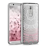 kwmobile ZTE Axon 7 Mini Hülle - Handyhülle für ZTE Axon 7 Mini - Handy Case in Indische Sonne Design Rosa Weiß Transparent