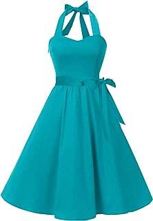teal vintage dress