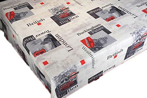 ExclusivoCIR Nappe anti-taches motif Londres pour décoration d'intérieur 130 x 150