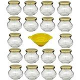 Einmachgläser in Kugelform mit Schraubdeckel Diese Marmeladengläser eignen sich prima als dekorative Geschenkverpackung für Selbstgemachtes Fassungsvermögen: ca. 235 ml ( bis Oberkante Rand ) Maße ca. : Ø 8,7 cm / Höhe 7,3 cm / Ø Öffnung 5,3 cm Liefe...