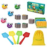 Niyattn Sight Word Games | 220 pcs Thick Dolch Sight Word Fly Swat Game for Kindergarten Homeschool & Classroom Teaching Supplies| Phonics Game for Kids 5,6,7,8,9| w/ 68 Blank Cards & Storage Bag