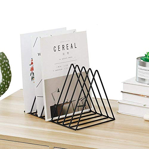 TIED RIBBONS Black Book Newspaper File Organizer Magazine Holder Stand for Table Desk Home Office Decor Use