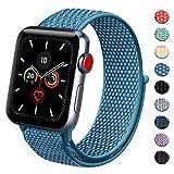 Vancle コンパチブル Apple Watch バンド 38mm 40mm 42mm 44mm ナイロンスポーツループバンド iWatch Series4/3/2/1に対応 (38mm/40mm, 04 ケープブルー)