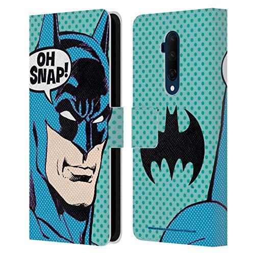 Head Case Designs sous Licence Officielle Batman DC Comics Pop Art Mode Vintage Coque en Cuir à Portefeuille Compatible avec OnePlus 7T Pro