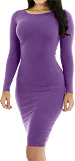 Best bodycon long sleeve midi dress Reviews