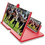 BUVLIVU Phone Screen Magnifier 12' 3D Hd Mobile Phone Enlarger Projector Portable Cell Phone Amplifier with Anti-Radiation Eye Protection for Movies Videos Gaming for All Smartphones