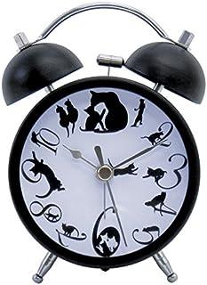 Gato negro de la Campana de Estilo Retro Reloj de Alarma por Onishi De Japón AKT-2801
