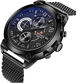 Naviforce Casual Watch For Men Analog Stainless Steel - NF9068M