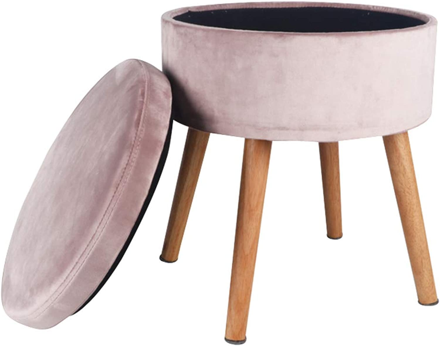 Storage Footstool Nordic Dressing Table Stool Bedroom Creative Low Stool Change shoes Bench GAOFENG (color   Tender Pink, Size   34  41cm)