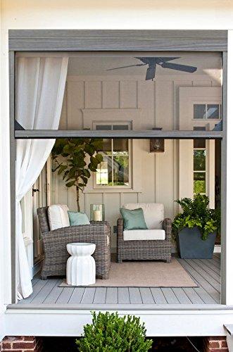 Kit de alta calidad de mosquitera enrollable de aluminio para ventana de 160 x 160 cm. color imitación madera (IMITACIÓN MADERA NOGAL)