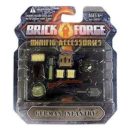 Custom Brick Forge WW2 Set Deutsche Infantry mit Waffen für z.B. LEGO ® Figuren