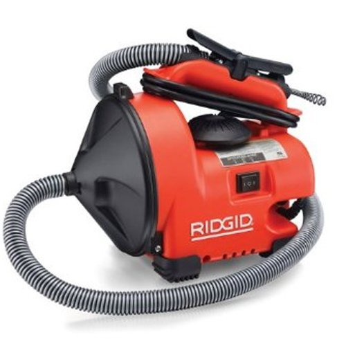 Ridgid GIDDS-813341 34963 K-30 AUTO-CLEAN Sink Machine with MAXCORE 50 1/4 Inch Inner Core Cable and AUTOFEED Control, Sink Drain Cleaner Machine and Bulb Drain Auger