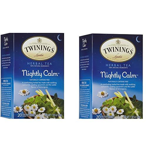 Twinings Nightly Calm Herbal Tea, 20 ct (2 Pack)