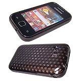caseroxx TPU-Carcasa para Samsung S5360 Galaxy Y, Carcasa (TPU-Carcasa en Negro-Transparente)