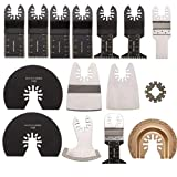 LONGWDS sierra cuchillas Accesorios for herramientas eléctricas, 15pcs oscilante multiherramienta accesorios oscilante Herramientas de hojas de sierra Kit for Rockwell Sonicrafter Worx oscilantes herr
