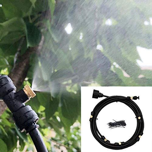 Automatische Bewässerungsvorrichtung, Landwirtschaftliche Bewässerung Niederdruck-Spray Set, 6M Garten Sprinkler Rasenbewässerungssystem 6.22