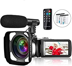 in budget affordable Video Camera Camcorder Video Blog Camera for Youtube Full HD 2.7K 30FPS 30 MPIR Night Vision 3…
