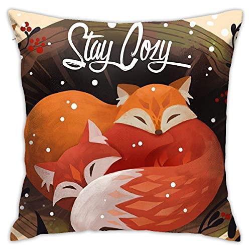 Wunderschön dekorierte Kissen 45 x 45 cm Stay Cozy Dekorative Kissen für Sofas, Sofas, Lounges