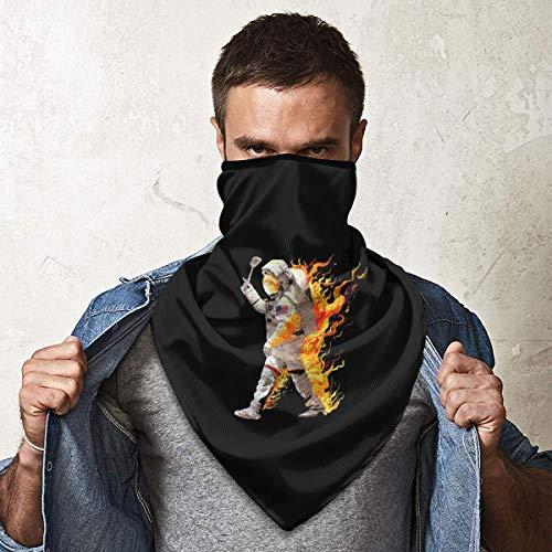 WU4FAAR Gesichtsmaske Schal, Mr. Halstuch mit Totenkopf-Gesicht Einheitsgröße Astronaut für gebratenen Reis.