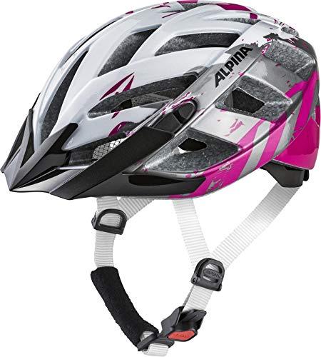 ALPINA Unisex - Erwachsene, PANOMA 2.0 Fahrradhelm, pearlwhite-magenta gloss, 52-57 cm