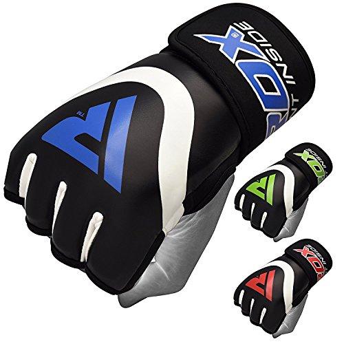 RDX MMA Guantes Maya Cuero Lucha Libre Sparring Artes Marciales Guantillas Entrenamiento Grappling Gym Gloves.