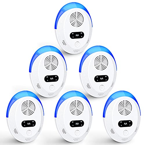 Ultrasonic Pest Repeller 6 Pack, Electronic Plug in Indoor Pest...