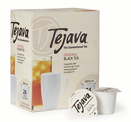 Tejava Original Unsweetened Black Tea Pods, Award-Winning Tea, 100% recyclable Single Serve Cups (24 Pack)