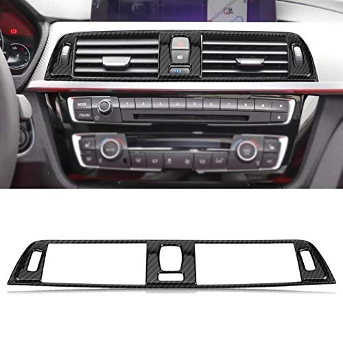 KKJLXX Fibra di Carbonio Telaio Fibra di Carbonio Style Car Console Aria condizionata Vent Disposizione della Copertura della Telaio Sticker for BMW Serie 3 F30 2013 2014 2015 2016 2017 2018