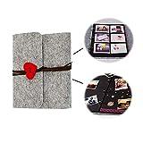 N\A Album de Fotos para Pegar y Escribir, Página Negra Album Fotos Scrapbook, Álbum de Fotos para ál...