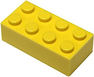 LEGO Parts and Pieces: Yellow (Bright Yellow) 2x4 Brick x100