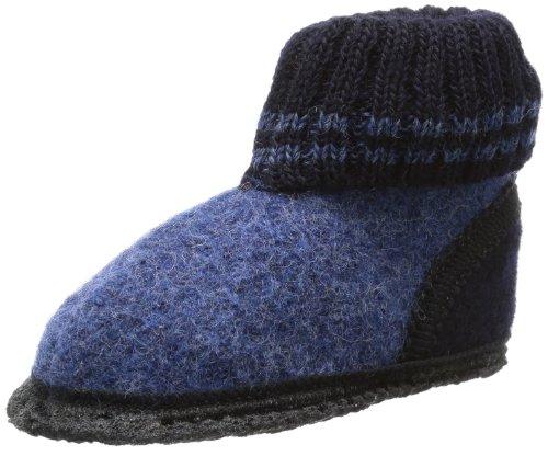 Beck Ötzi bordeaux 755, Unisex-Kinder Hausschuhe, Blau (blau), EU 30