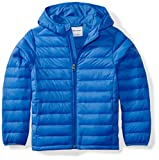Amazon Essentials Kids Boys Light-Weight Water-Resistant Packable Hooded Puffer Jackets Coats, Blue, X-Large