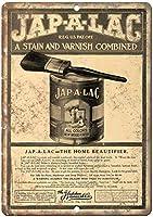 Jap-A-Lac Glidden Varnish Co. ティンサイン ポスター ン サイン プレート ブリキ看板 ホーム バーために