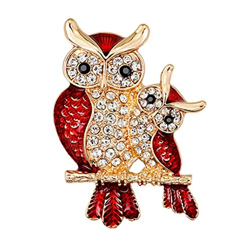 Yililay Animal Brooch Corsage Ladies Men Owl Shape Brooch Pin Accessaries for Daily Use