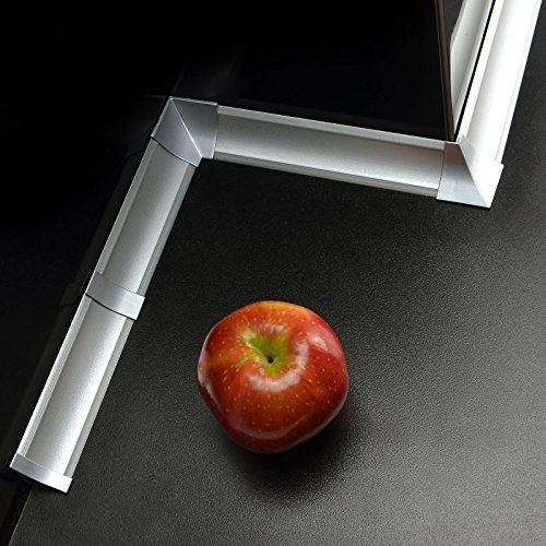 [DQ-PP] Außenecke für Winkelleisten Aluminum silver für Küchen 23mm x 23mm Arbeitsplatten Grundprofil Abschlussleiste Küchenabschlussleiste Tischplattenleisten