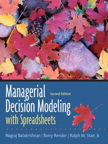 Managerial Decision Modeling with Spreadsheets (2nd Edition)