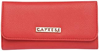 Caprese Womens Snap Closure 2 Fold Wallet (Red_Free Size)