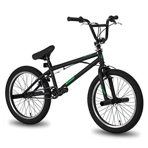 20 Zoll Fahrrad, Freestyle Steel Bike, Doppel Spur Bike, Bremsshow, Stunt Bike, Mehrere Farben und Serien,Schwarz